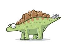 Cartoon Funny Stegosaurus Royalty Free Stock Image