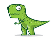 Cartoon Funny T-Rex. Cartoon t-rex was standing with two legs Stock Image