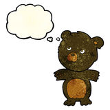cartoon funny teddy bear with thought bubble Royalty Free Stock Image