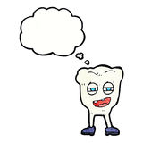 cartoon funny tooth character with thought bubble Royalty Free Stock Photo