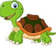 Cartoon funny turtle isolated on white background Royalty Free Stock Photos