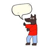 Cartoon funny werewolf with speech bubble Stock Photography