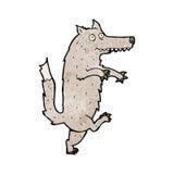 Cartoon funny wolf Royalty Free Stock Photography