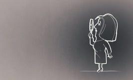 Cartoon funny woman Stock Photo