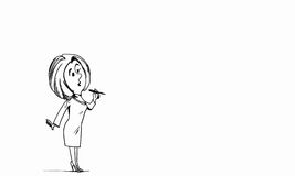 Cartoon funny woman Stock Photography