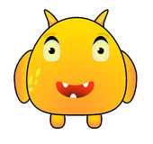 Cartoon Funny Yellow Monster Royalty Free Stock Images
