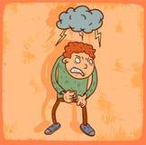 Cartoon furious illustration , vector icon. Royalty Free Stock Image