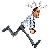 Cartoon of furious man stock illustration