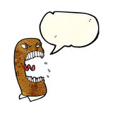 Cartoon furious man shouting with speech bubble Royalty Free Stock Photos