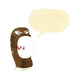 Cartoon furious man shouting with speech bubble Stock Images