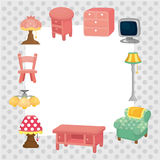 Cartoon furniture card Stock Image