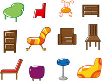 Cartoon furniture icon Royalty Free Stock Photo