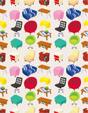 Cartoon Furniture Seamless Pattern Stock Photo