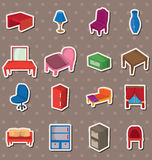Cartoon Furniture stickers. Cartoon vector illustration Royalty Free Stock Images