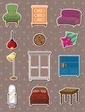 Cartoon furniture stickers. Cartoon vector illustration Royalty Free Stock Photo