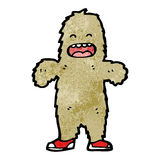 Cartoon furry bigfoot monster Stock Images