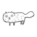 Cartoon furry cat Royalty Free Stock Images