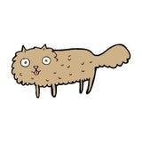 Cartoon furry cat Stock Images