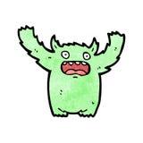 Cartoon furry green monster Stock Photos