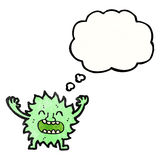 Cartoon furry green monster Royalty Free Stock Photography