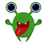 Cartoon furry little monster Royalty Free Stock Image
