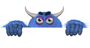 Cartoon furry toy monster Stock Photography