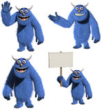 Cartoon furry toy monster Stock Image