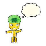 cartoon future robot with thought bubble Stock Images