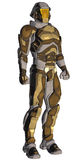Cartoon of a futuristic warrior Royalty Free Stock Photos