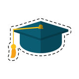 Cartoon gaduation cap education symbol Stock Photography