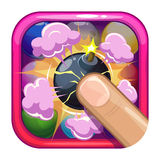 Cartoon game app icon Stock Photo