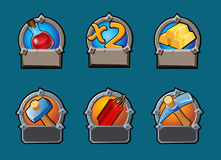 Cartoon Game Buttons Collection Stock Photography
