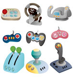 Cartoon game joystick icon set. Drawing Royalty Free Stock Photography