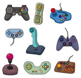 Cartoon game joystick icon set Royalty Free Stock Images