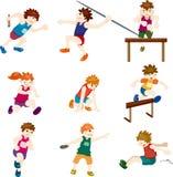 Cartoon game player Stock Photo