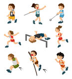 Cartoon game player Stock Images