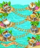 Cartoon Game Treasure Template Stock Photo