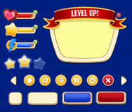 Cartoon Game User Interface Concept Royalty Free Stock Image