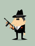 Cartoon gangster Royalty Free Stock Image