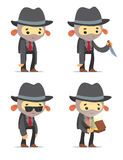 Cartoon Gangsters Stock Photography