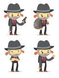 Cartoon Gangsters Stock Image