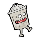 Cartoon garbage can Stock Images