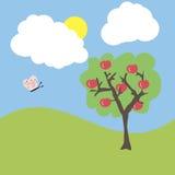 Cartoon garden Stock Images
