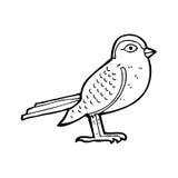 Cartoon garden bird Stock Photo