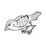 Cartoon garden bird Stock Image