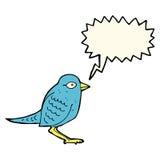 Cartoon garden bird with speech bubble Stock Photos