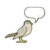 Cartoon garden bird with speech bubble Royalty Free Stock Photo