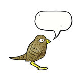 Cartoon garden bird with speech bubble Stock Images