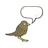 Cartoon garden bird with speech bubble Stock Image