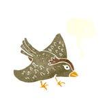 Cartoon garden bird with speech bubble Royalty Free Stock Photos
